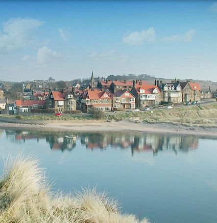 A view over Alnmouth Estuary from Church Hill