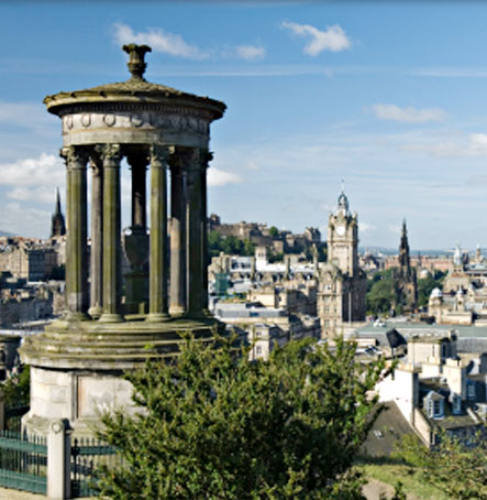 A view of the Edinburgh skyline from Calton hill